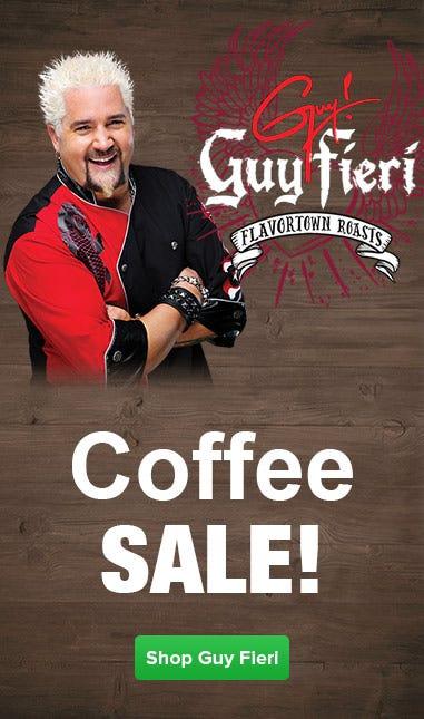 Shop Guy Fieri Coffee Marvel, American Diner, West Coast, Redwood, Unleaded, Cinnamon Hazelnut