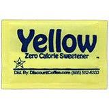 Splenda Brand Artificial Sweetener Packets, Yellow Packets, Sucralose Zero Calorie Sweeteners.