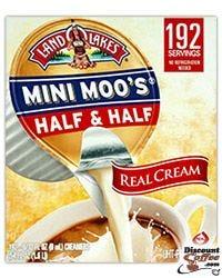 Mini Moo's Half & Half Creamer,  Mini Moo's real milk cream. 192 servings.