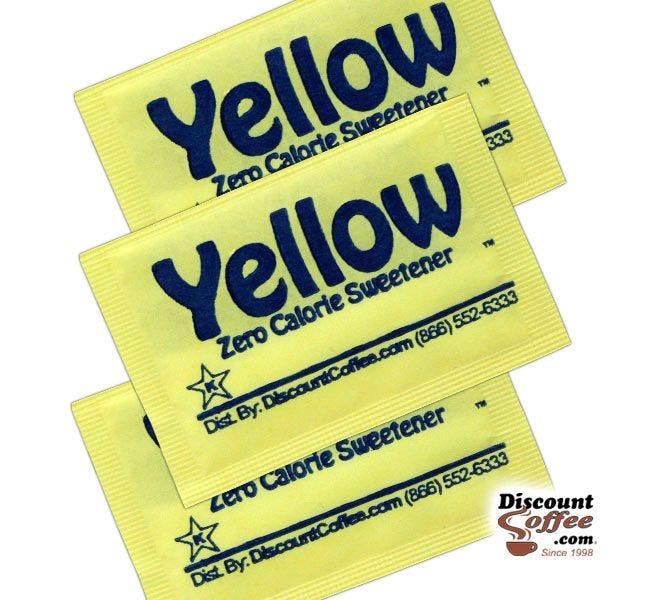 Yellow Packets Zero Calorie Sweetener   Compare Splenda Brand, Save! Sucralose Artificial Sweeteners, Gluten Free, Kosher.